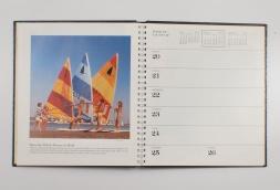 desk calendar inside